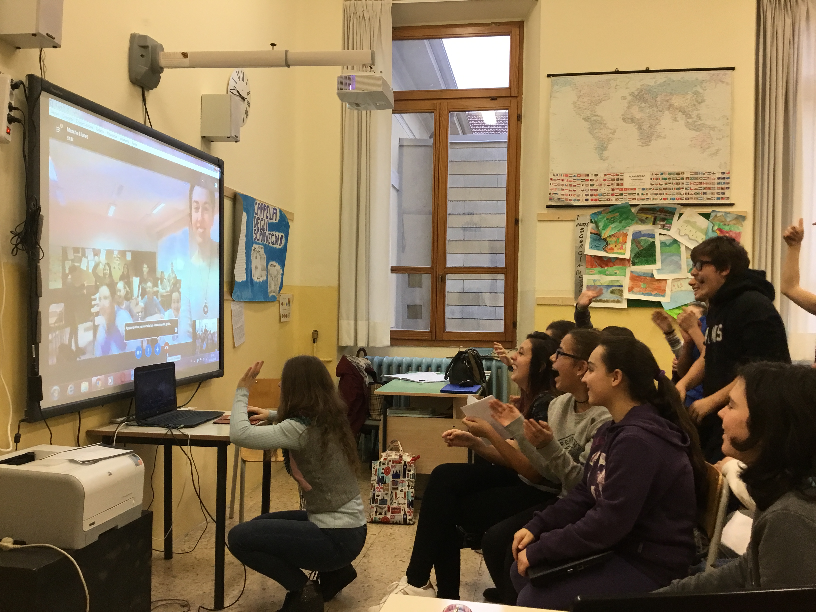 Keep calm and make friends (II A  2017-18: attività didattica con studenti spagnoli via Skype)